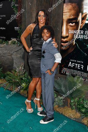 Jaden Martin with mother Nicole
