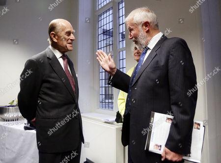 Stock Image of Prince Philip meeting Sir Chris Bonington
