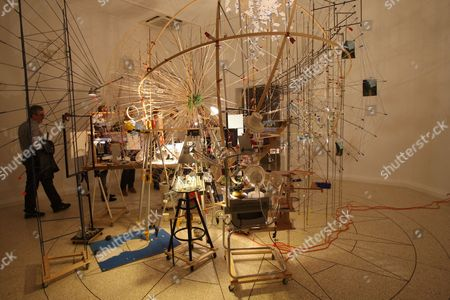 The gardens - U.S. Pavilion - installation by Sarah Sze