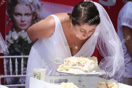 Editorial image of 'Bridezilla' cake eating contest, New York, America - 30 May 2013