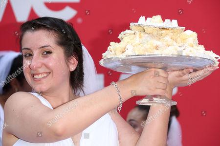 Editorial photo of 'Bridezilla' cake eating contest, New York, America - 30 May 2013