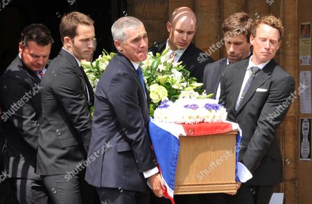The coffin of Andrew Simpson