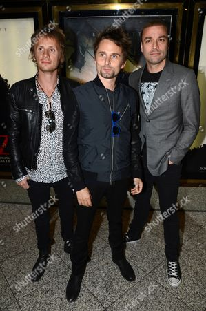 Muse - Dominic Howard, Matt Bellamy and Christopher Wolstenholme