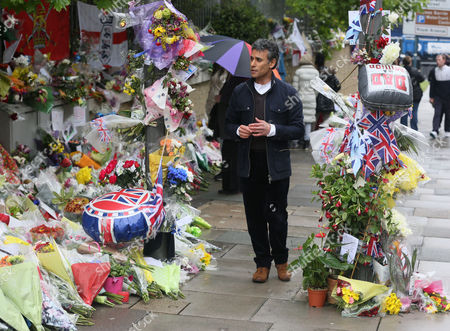Editorial picture of Matthew Amroliwala filming for Crimewatch at the scene where Lee Rigby was murdered, Woolwich, London, Britain - 28 May 2013