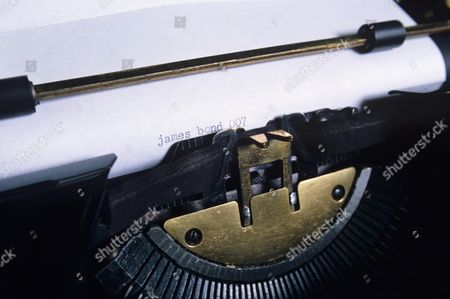 Gold typewriter owned by Peter Fleming