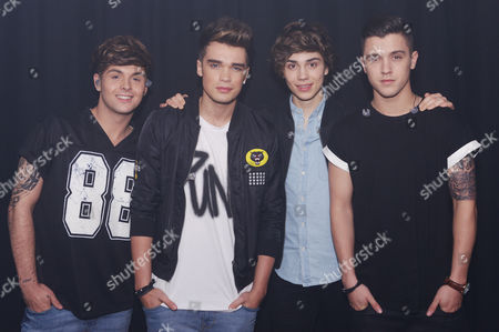 Stock Image of Union J - Jaymi Hensley, Josh Cuthbert, George Shelley, Jamie Hamblett