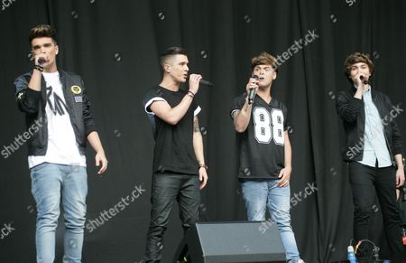 Stock Picture of Union J - Josh Cuthbert, Jamie Hamblett, Jaymi Hensley, George Shelley