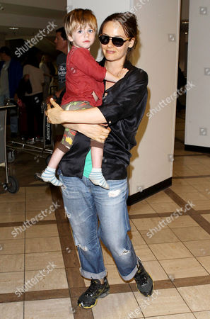 Editorial photo of Alicia Silverstone and son Bear Blu Jarecki arriving at the LAX, Los Angeles, America - 03 Jun 2013