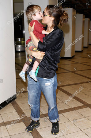 Editorial picture of Alicia Silverstone and son Bear Blu Jarecki arriving at the LAX, Los Angeles, America - 03 Jun 2013