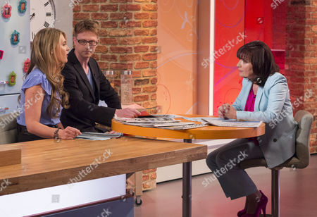 Celia Walden and Olly Kendall with Lorraine Kelly