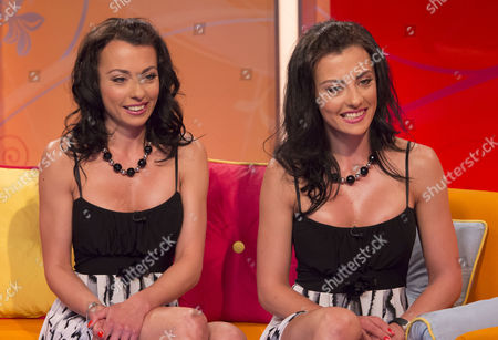 Stock Picture of The Cheeky Girls - Monica Irimia and Gabriela Irimia