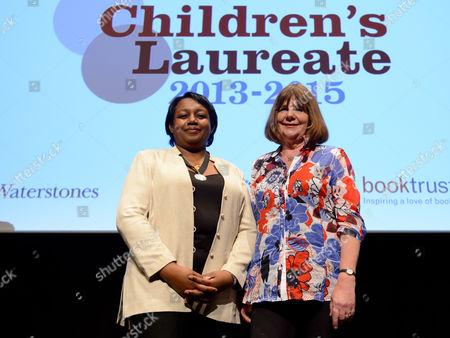 Malorie Blackman and outgoing Children's Laureate Julia Donaldson.