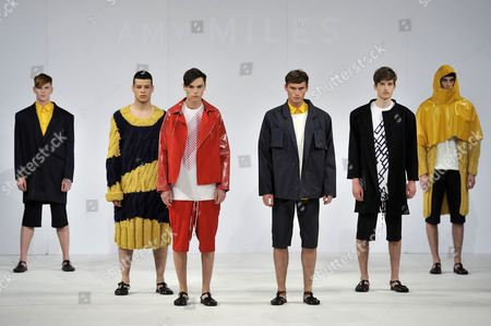 Stock Photo of Model on catwalk wearing clothes by Amy Miles