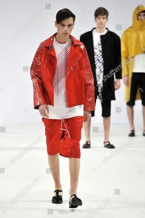 Stock Picture of Model on catwalk wearing clothes by Amy Miles