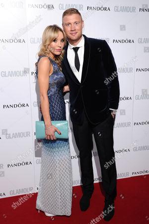 Andrew 'Freddie' Flintoff and wife Rachael Flintoff