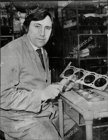John Reardon Ex Footballer Making Final Examination Of A Motor Car Gaskets At Coopers In Slough.