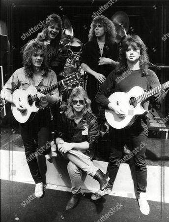 Europe - John Leven, Mic Michaeli, Ian Haugland, Joey Tempest and John Norum