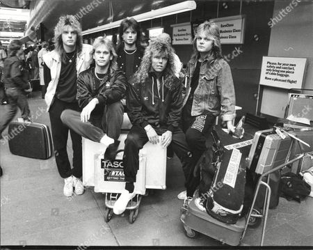 Europe before boarding a flight to Japan, Sweden - John Leven, Ian Haugland, John Norum, Joey Tempest and Mic Michaeli