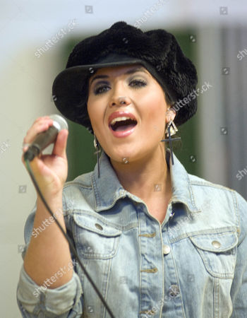 Moniqe Foxx during her gig to pupils at Holy Rood Primary School in Swindon.