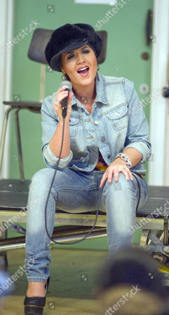 Editorial picture of Moniqe Foxx at Holy Rood Infants School, Swindon, Britain - 04 Jun 2013