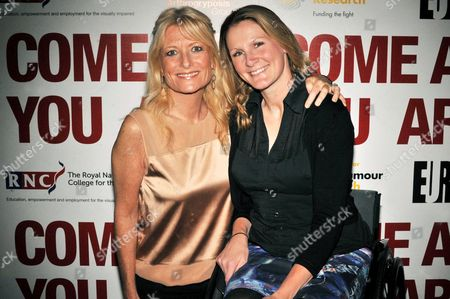 Gaby Roslin and Claire Lomas