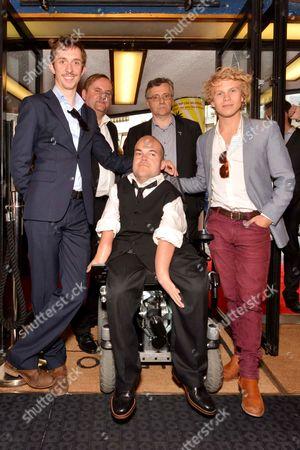 Stock Photo of Robrecht Vanden Thoren, Gilles De Schryver, Tom Audenaert and Asta Philpot