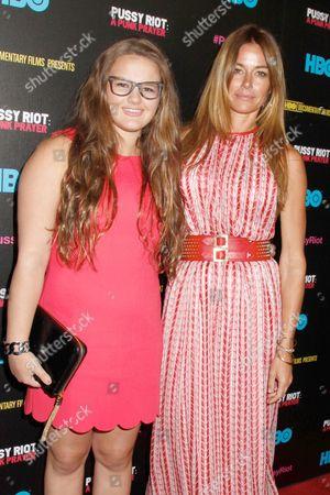 Stock Photo of Kelly Killoren Bensimon with daughter Sea Bensimon