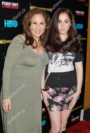 Stock Picture of Kathy Najimy and daughter Samia Najimy Finnerty