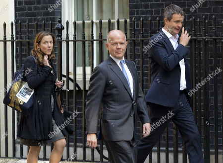 Kate Fall, William Hague and Rupert Harrison