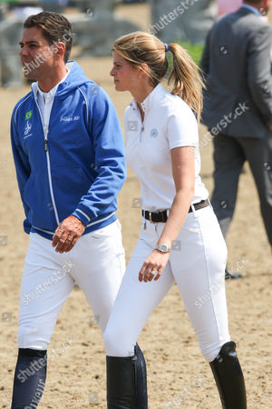 Billionaire heiress Athina Onassis and husband Alvaro Affonso de Miranda Neto taking part in the Global Champions Tour