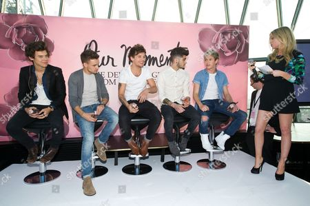 Harry Styles, Liam Payne, Louis Tomlinson, Zayn Malik and Niall Horan - One Direction with Laura Whitmore