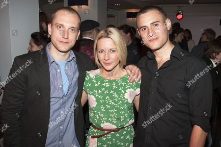 Stock Image of William Troughton (Danny), Lisa Dillon (Pru) and Joel Samuels (Lyle)