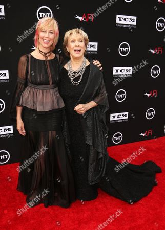 Stock Picture of Cloris Leachman and daughter Dinah Englund