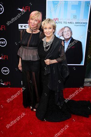 Stock Image of Cloris Leachman and daughter Dinah Englund