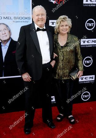 Stock Image of Dick Van Patten and wife Pat Van Patten
