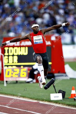 Phillips Idowu (GBR) competes in the Triple Jump