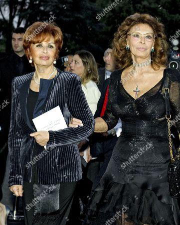Stock Picture of Maria Scicolone and Sophia Loren