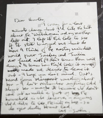 A letter from John Lennon to Beatles biographer Hunter Davies