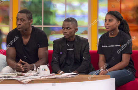 David Harewood, Frank Kapeta and Mwajuma.