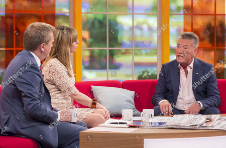 Aled Jones and Kate Garraway with Billy Pearce