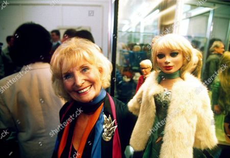 SYLVIA ANDERSON WITH THUNDERBIRDS PUPPET LADY PENELOPE