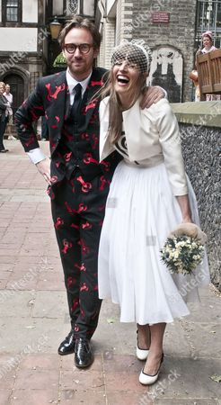 Editorial photo of Phillip Colbert and Charlotte Goldsmith wedding, London, Britain - 08 Jun 2013