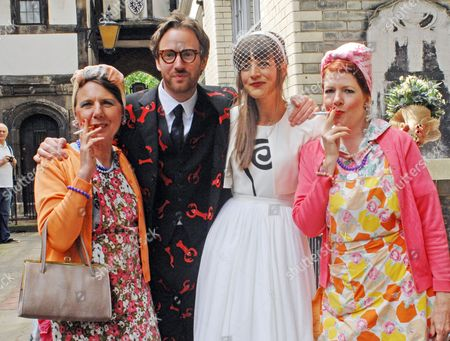 Editorial image of Phillip Colbert and Charlotte Goldsmith wedding, London, Britain - 08 Jun 2012