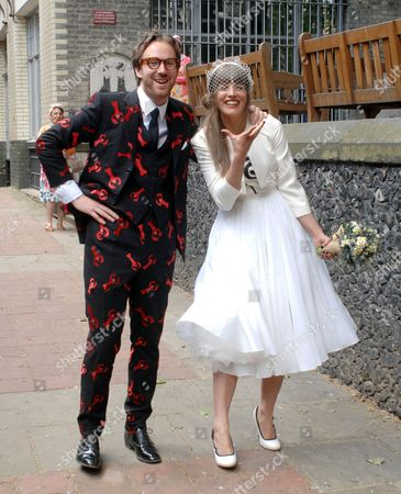 Editorial picture of Phillip Colbert and Charlotte Goldsmith wedding, London, Britain - 08 Jun 2012