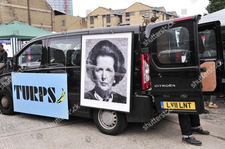 Artwork of Lady Margaret Thatcher titled Maggie (2013) by artist Marcus Harvey