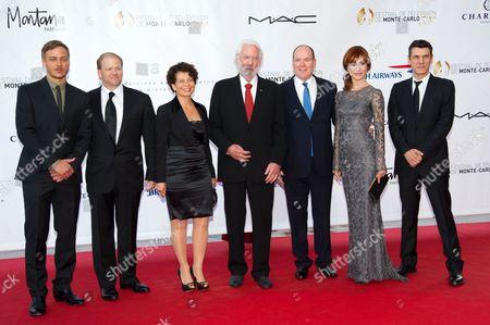 Cast of 'Crossing Lines' Tom Wlaschiha, Edward Allen Bernero, Rola Bauer, Donald Sutherland, Prince Albert II of Monaco, Gabriella Pession and Marc Lavoine