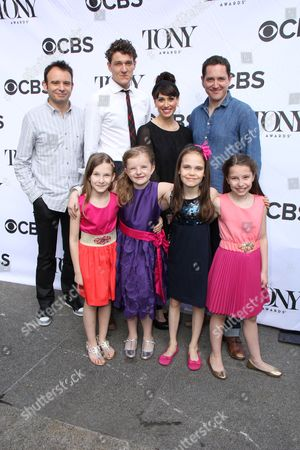 Matthew Warchus, Gabriel Ebert, Bertie Carvel, Bailey Ryan, Milly Shapiro, Sophia Gennusa and Oona Laurence