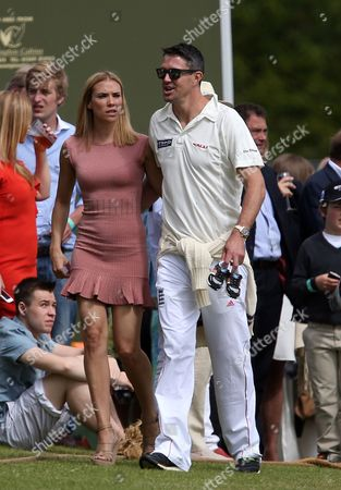 Kevin Pietersen and his wife Jessica Taylor