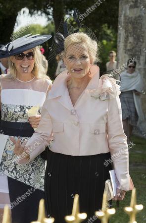 Editorial photo of Peregrine Hood and Serena Nikkhah wedding, Charlton, Wiltshire, Britain - 08 Jun 2013