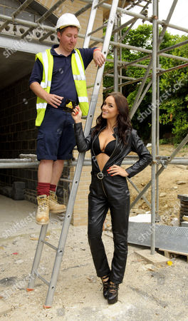 Rosie Jones and workman